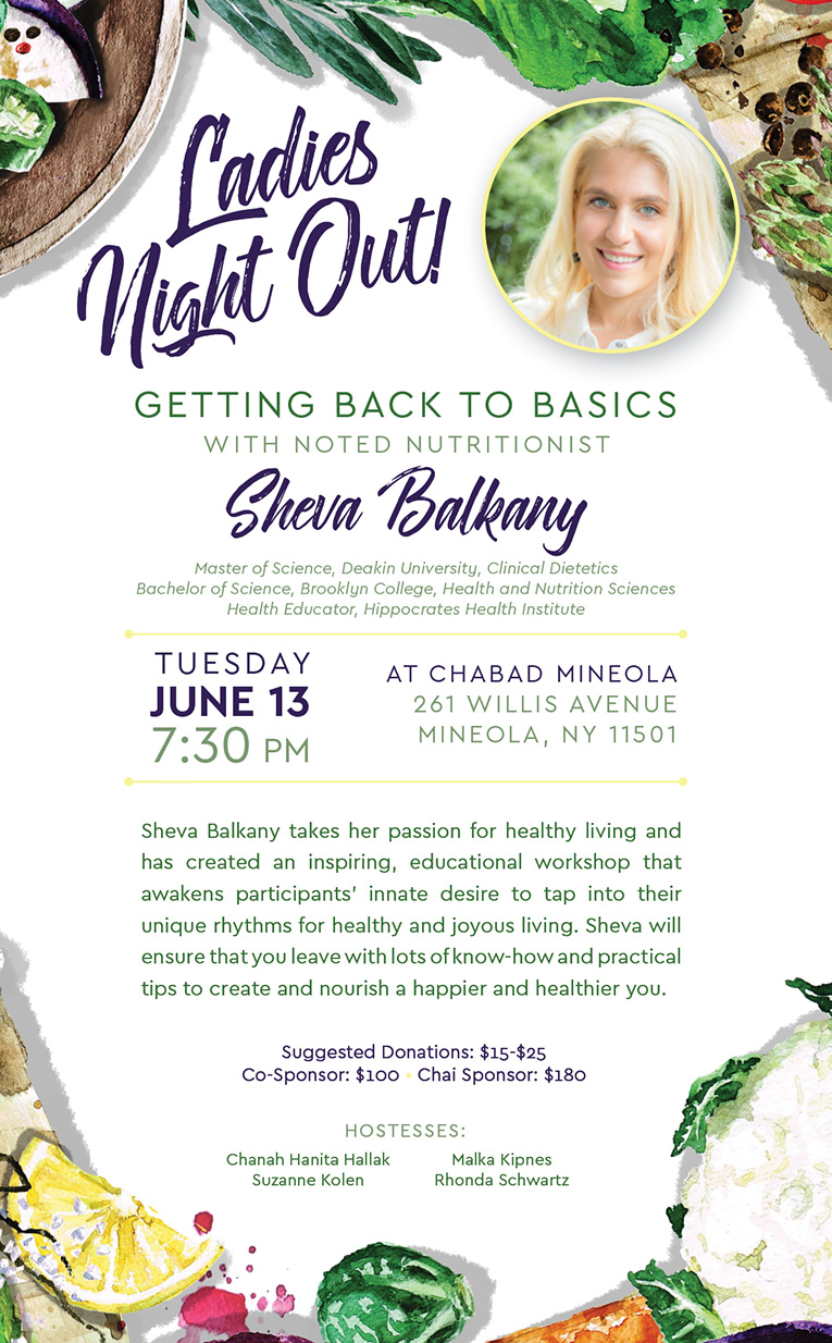 Ladies Night Out! - Chabad in Mineola With Rabbi Perl
